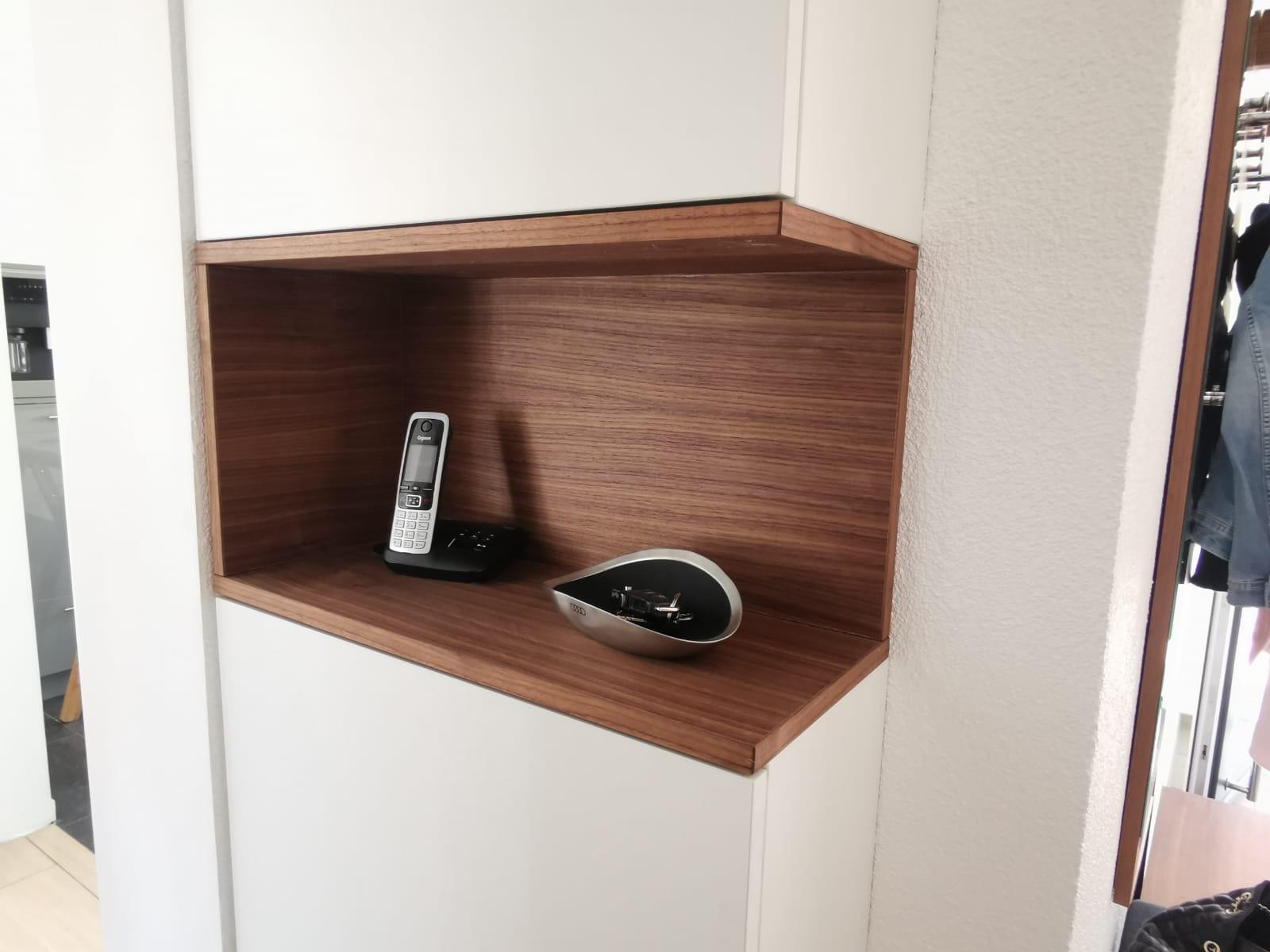 Telefon in Wand Sonderanfertigung Schreiner